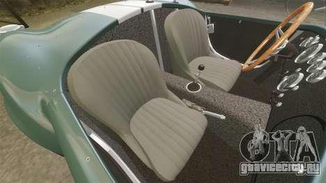 Shelby Cobra 427 SC 1965 для GTA 4 вид изнутри