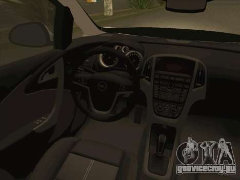Opel Astra J 2011 для GTA San Andreas вид сверху