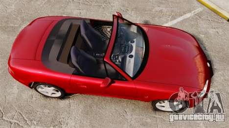 Mazda (Miata) MX-5 для GTA 4 вид справа