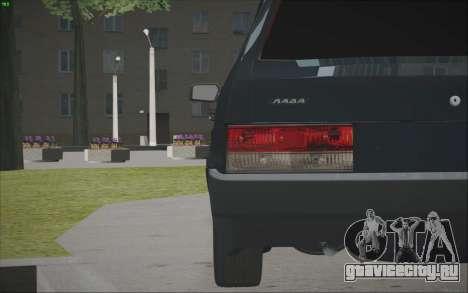 ВАЗ 21099 для GTA San Andreas вид изнутри