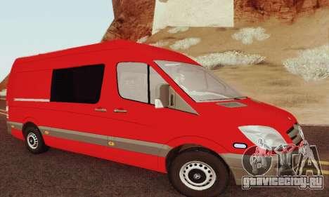 Mersedes-Benz Sprinter для GTA San Andreas вид сзади