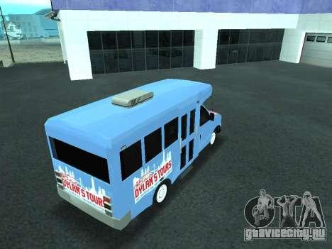 Ford Shuttle Bus для GTA San Andreas вид сверху