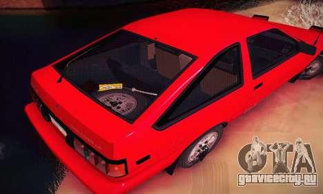 Toyota Corolla GT-S 1985 для GTA San Andreas вид сбоку