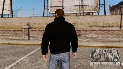 Чёрная олимпийка -Adidas Originals- для GTA 4 второй скриншот