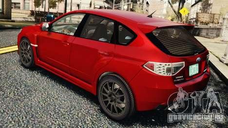 Subaru Impreza WRX STi 2010 для GTA 4 вид справа