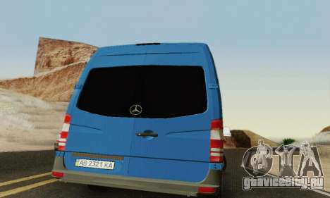 Mersedes-Benz Sprinter для GTA San Andreas вид сбоку