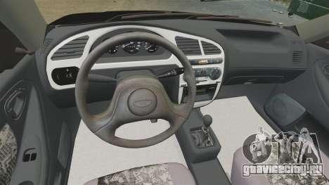 Daewoo Lanos Style 2001 Limited version для GTA 4 вид изнутри
