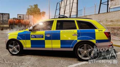 Audi Q7 Metropolitan Police [ELS] для GTA 4 вид слева