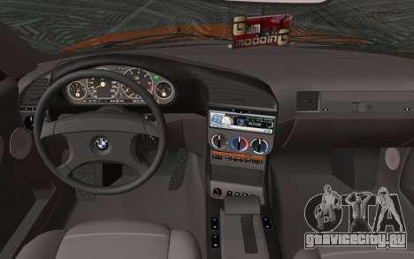 BMW 325i E36 Convertible 1996 для GTA San Andreas вид сзади слева