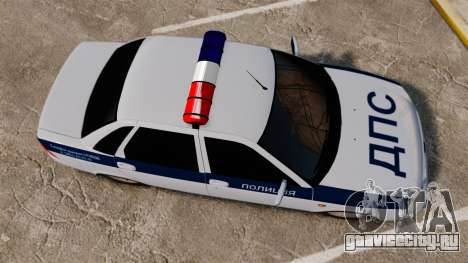 ВАЗ-2170 Лада Приора ДПС для GTA 4 вид справа