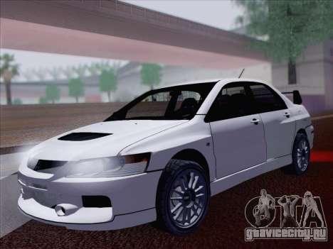 Mitsubishi Lancer Evo IX MR Edition для GTA San Andreas вид сзади