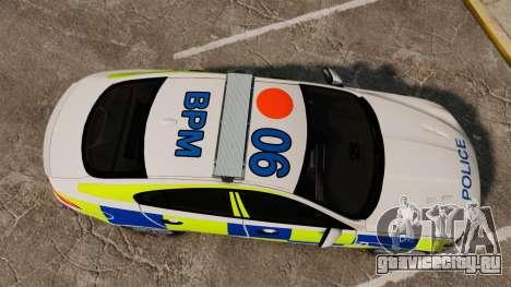 Jaguar XFR 2010 British Police [ELS] для GTA 4 вид справа