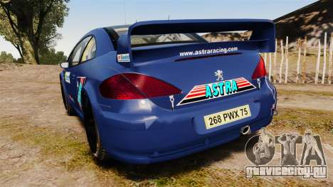 Peugeot 307 WRC для GTA 4 вид сзади слева
