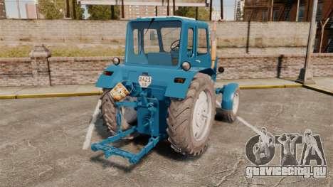 Трактор МТЗ-80 для GTA 4 вид сзади слева
