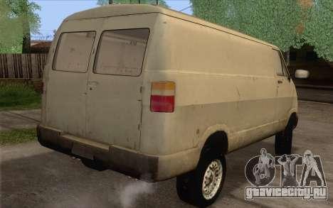 Dodge RAM Van 1500 для GTA San Andreas вид слева