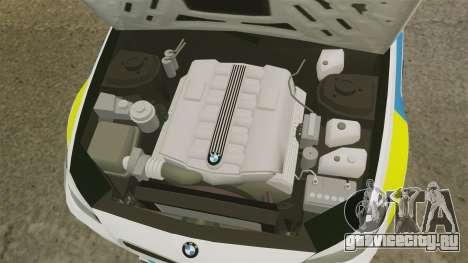 BMW M5 West Midlands Fire Service [ELS] для GTA 4 вид изнутри