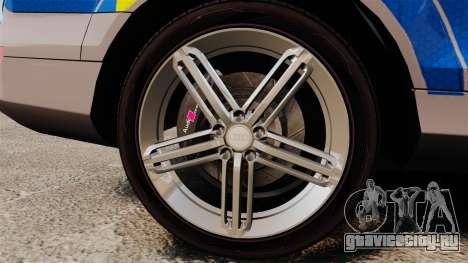 Audi Q7 Metropolitan Police [ELS] для GTA 4 вид сзади