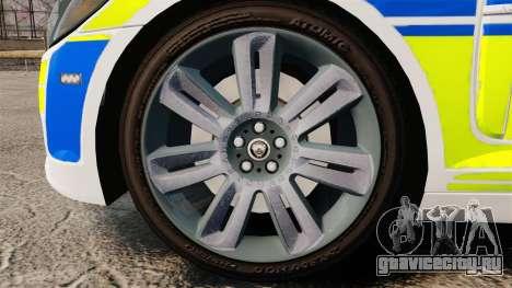 Jaguar XFR 2010 British Police [ELS] для GTA 4 вид сзади