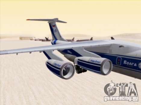 Ил-76ТД-90ВД Волга-Днепр для GTA San Andreas вид сзади слева