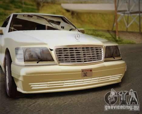 Mercedes-Benz S600 V12 Custom для GTA San Andreas вид сверху
