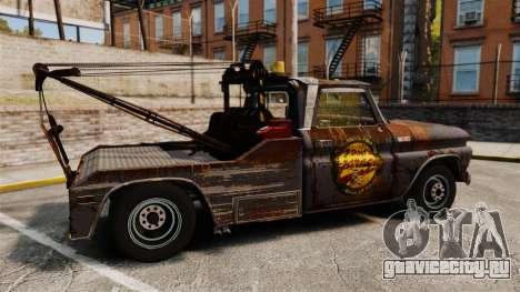 Chevrolet Tow truck rusty Stock для GTA 4 вид слева