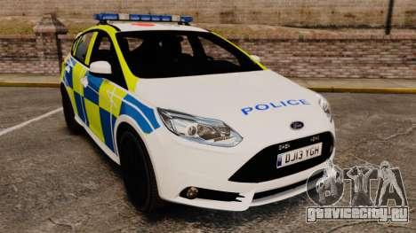 Ford Focus 2013 Uk Police [ELS] для GTA 4