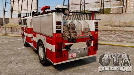 Пожарная машина для GTA 4 вид сзади слева