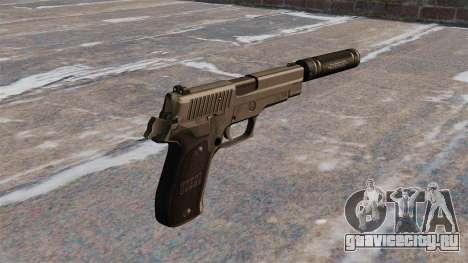 Пистолет SIG-Sauer P226 с глушителем для GTA 4 второй скриншот