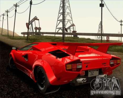 Lamborghini Countach LP500 Quattrovalvole 1988 для GTA San Andreas вид сверху