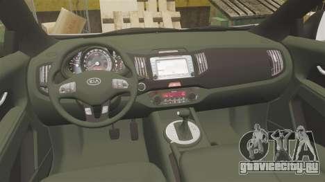 Kia Sportage Unmarked Police [ELS] для GTA 4 вид сзади