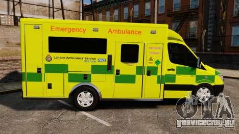 Mercedes-Benz Sprinter [ELS] London Ambulance для GTA 4 вид слева