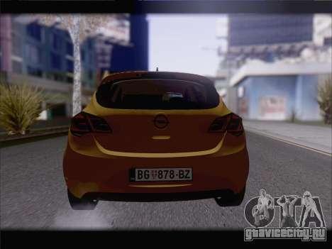Opel Astra J 2011 для GTA San Andreas вид сзади