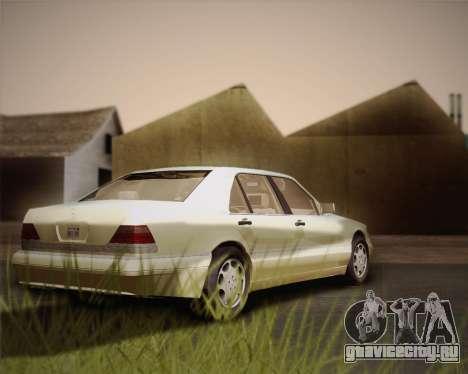 Mercedes-Benz S600 V12 Custom для GTA San Andreas вид изнутри