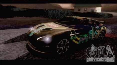 Aston Martin V12 Zagato 2012 [IVF] для GTA San Andreas вид сверху