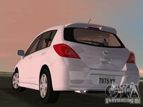 Nissan Tiida для GTA Vice City вид сбоку