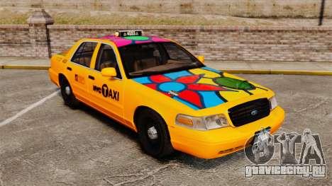Ford Crown Victoria 1999 NYC Taxi для GTA 4 вид сверху
