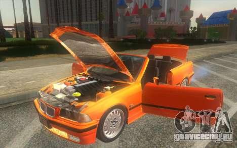 BMW 325i E36 Convertible 1996 для GTA San Andreas вид сзади