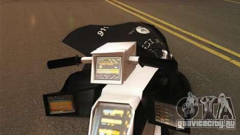 CopBike Alien City для GTA San Andreas вид сзади слева
