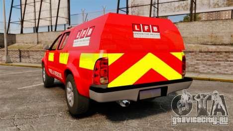 Toyota Hilux London Fire Brigade [ELS] для GTA 4 вид сзади слева