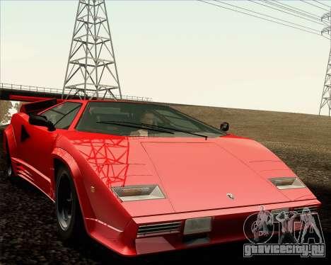 Lamborghini Countach LP500 Quattrovalvole 1988 для GTA San Andreas вид снизу