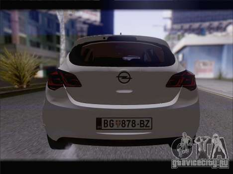 Opel Astra J 2011 для GTA San Andreas вид изнутри