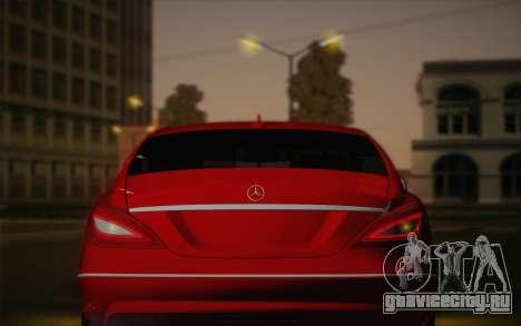 Mercedes-Benz CLS 63 AMG 2012 Fixed для GTA San Andreas вид снизу