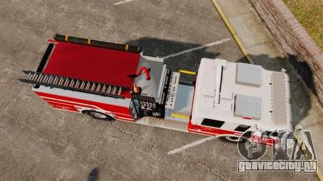 Firetruck Alderney [ELS] для GTA 4 вид справа