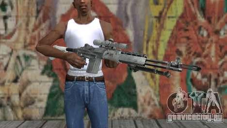 M14 EBR Арктический для GTA San Andreas третий скриншот