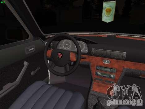 ГАЗ 3102 Stance для GTA San Andreas вид изнутри
