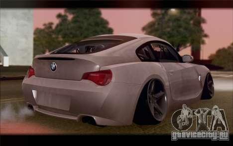 BMW Z4 Stance для GTA San Andreas вид слева