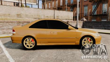 Honda Civic Si 1999 для GTA 4 вид слева