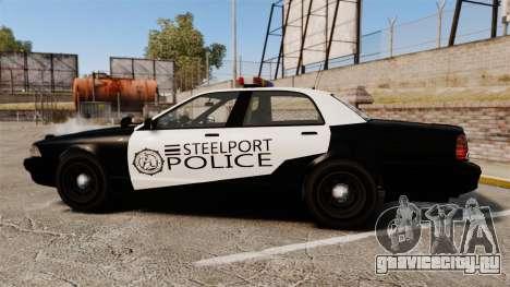 GTA V Vapid Steelport Police Cruiser [ELS] для GTA 4 вид слева