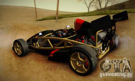 Ariel Atom 500 2012 V8 для GTA San Andreas вид сзади