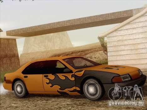 Fortune Sedan для GTA San Andreas вид изнутри